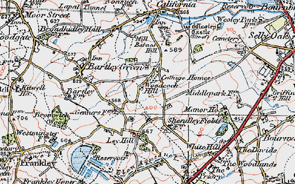 Old map of Woodcock Hill in 1921