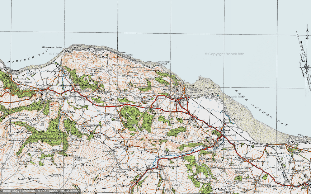 Old Map of Woodcombe, 1919 in 1919