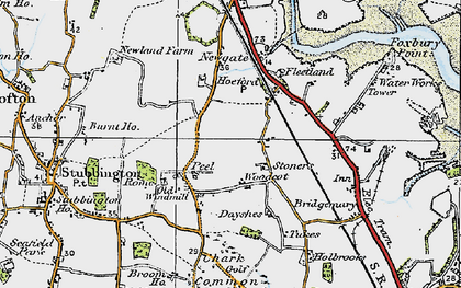 Old map of Woodcot in 1919