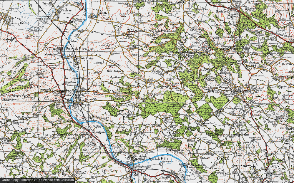 Old Map of Woodcote, 1919 in 1919