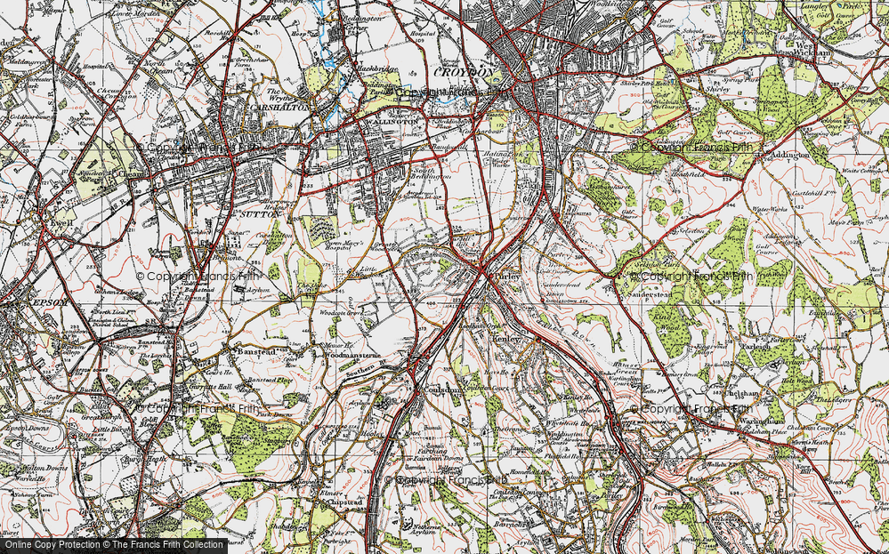 Old Map of Woodcote, 1920 in 1920