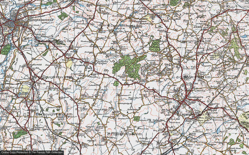 Old Map of Woodcote Green, 1919 in 1919