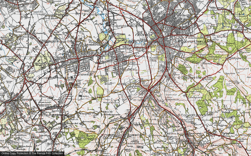 Old Map of Woodcote Green, 1920 in 1920