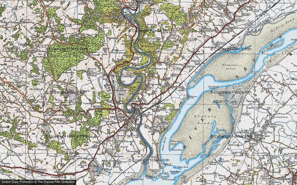 Old Map of Woodcroft, 1919 in 1919