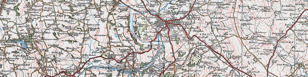 Old map of Woodcroft in 1923