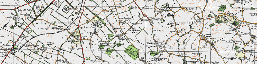 Old map of Woodditton in 1920