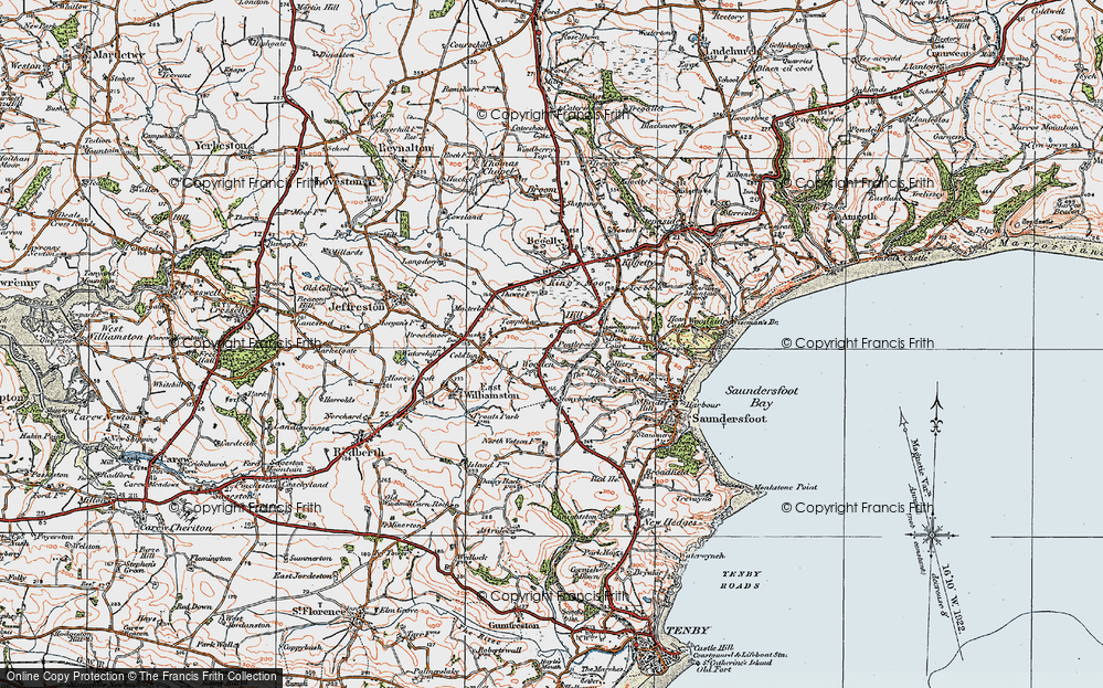 Old Map of Wooden, 1922 in 1922