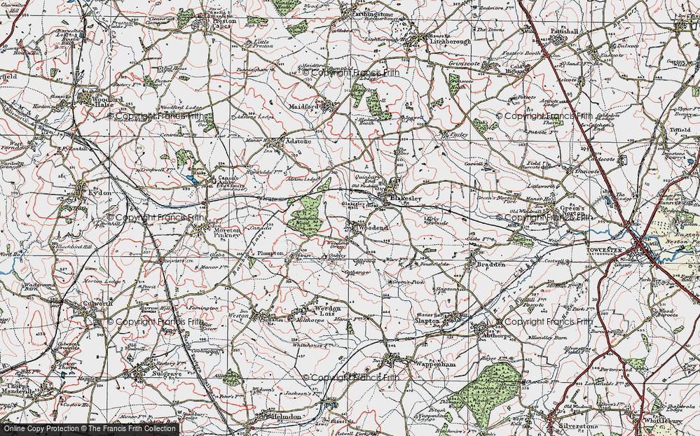 Old Map of Woodend, 1919 in 1919