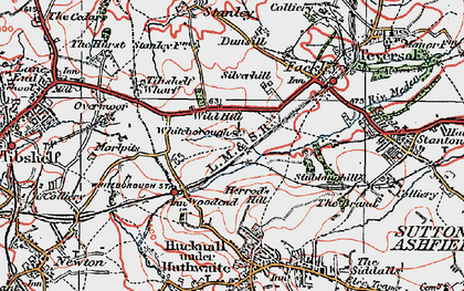 Old map of Woodend in 1923