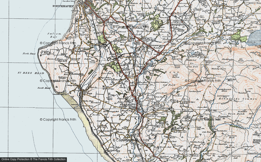 Old Map of Woodend, 1925 in 1925