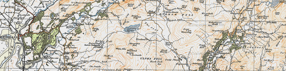 Old map of Withe Bottom in 1925