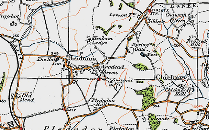 Old map of Woodend Green in 1919