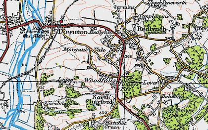 Old map of Woodfalls in 1919
