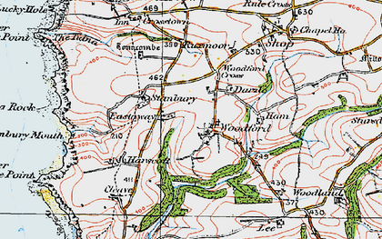 Old map of Lee Barton in 1919