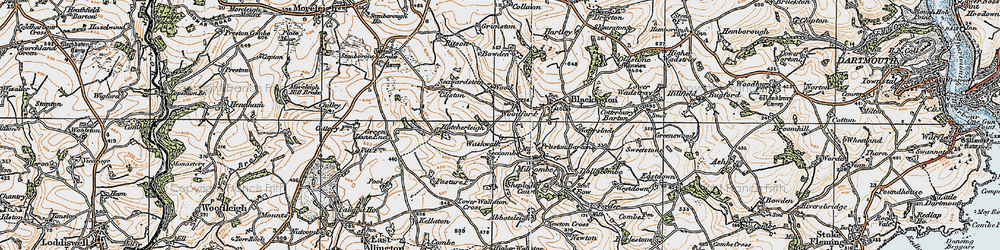 Old map of Woodford in 1919