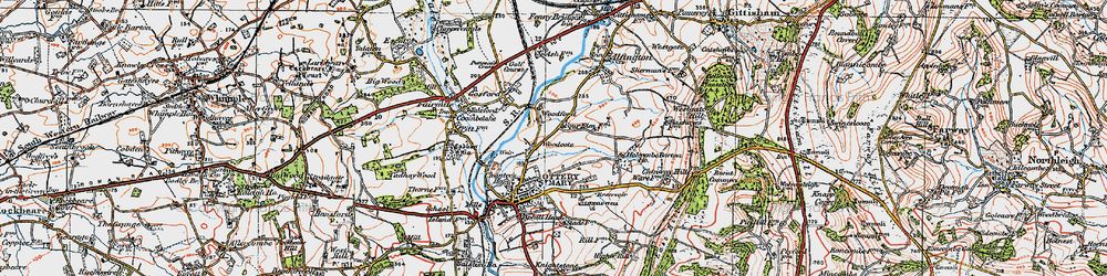 Old map of Westgate Hill in 1919