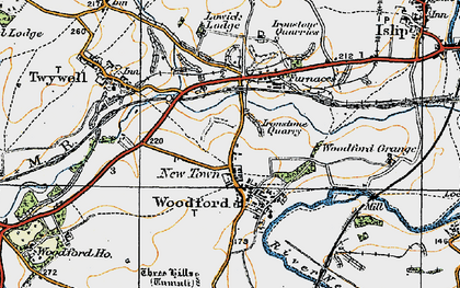 Old map of Woodford in 1920