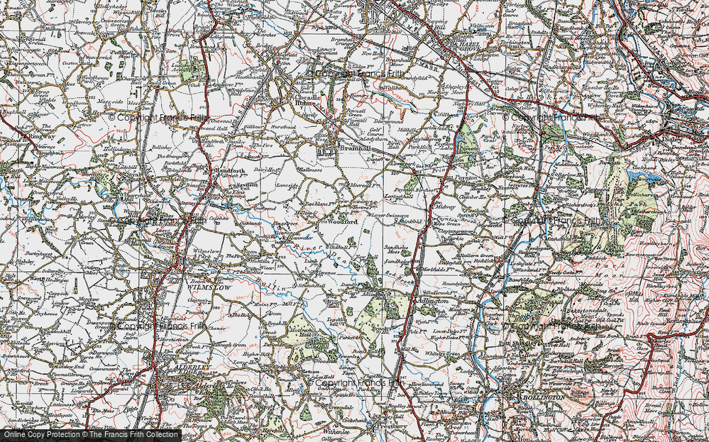 Old Map of Woodford, 1923 in 1923