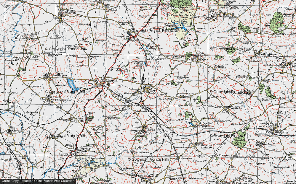 Old Map of Historic Map covering Woodford Lodge in 1919