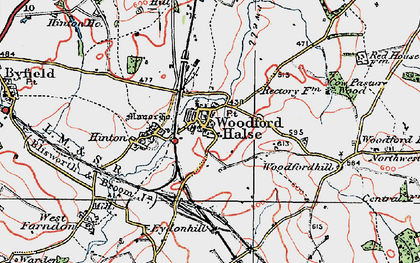 Old map of Woodfordhill in 1919