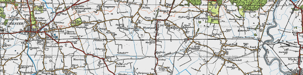 Old map of Woodgate in 1920