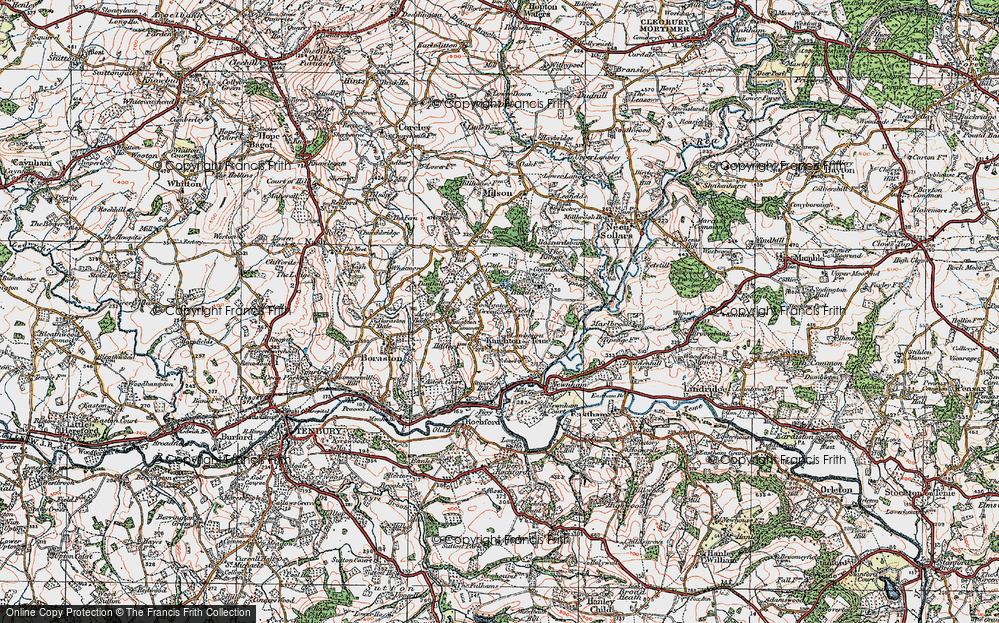 Old Map of Woodgates Green, 1920 in 1920