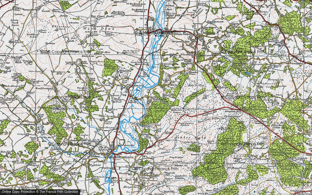 Old Map of Woodgreen, 1919 in 1919