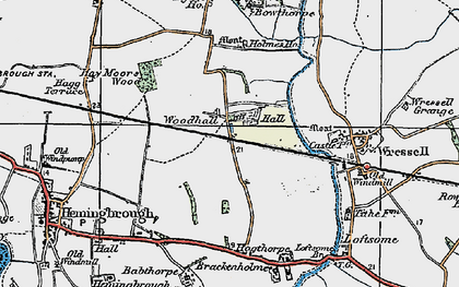Old map of Babthorpe in 1924