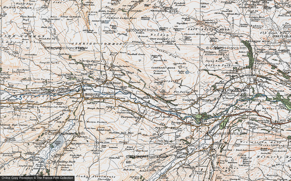 Old Map of Woodhall, 1925 in 1925