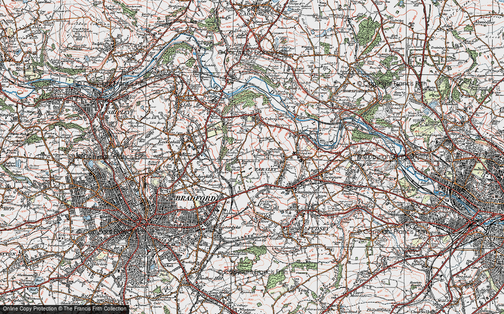 Old Map of Woodhall Hills, 1925 in 1925