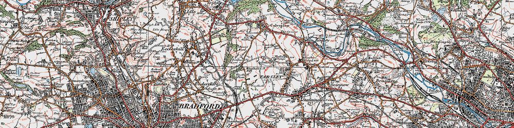 Old map of Woodhall Hills in 1925