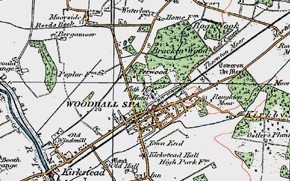 Old map of Woodhall Spa in 1923