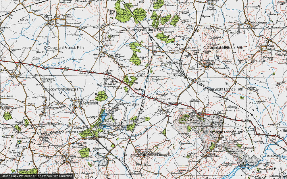 Old Map of Woodham, 1919 in 1919