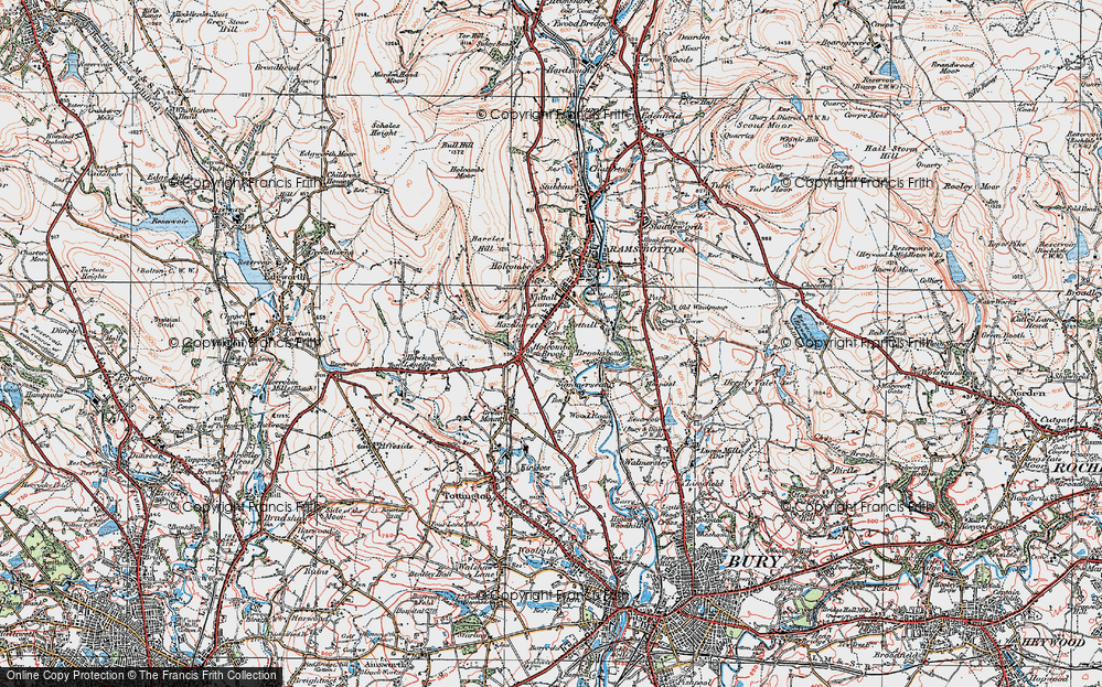 Old Map of Woodhey, 1924 in 1924