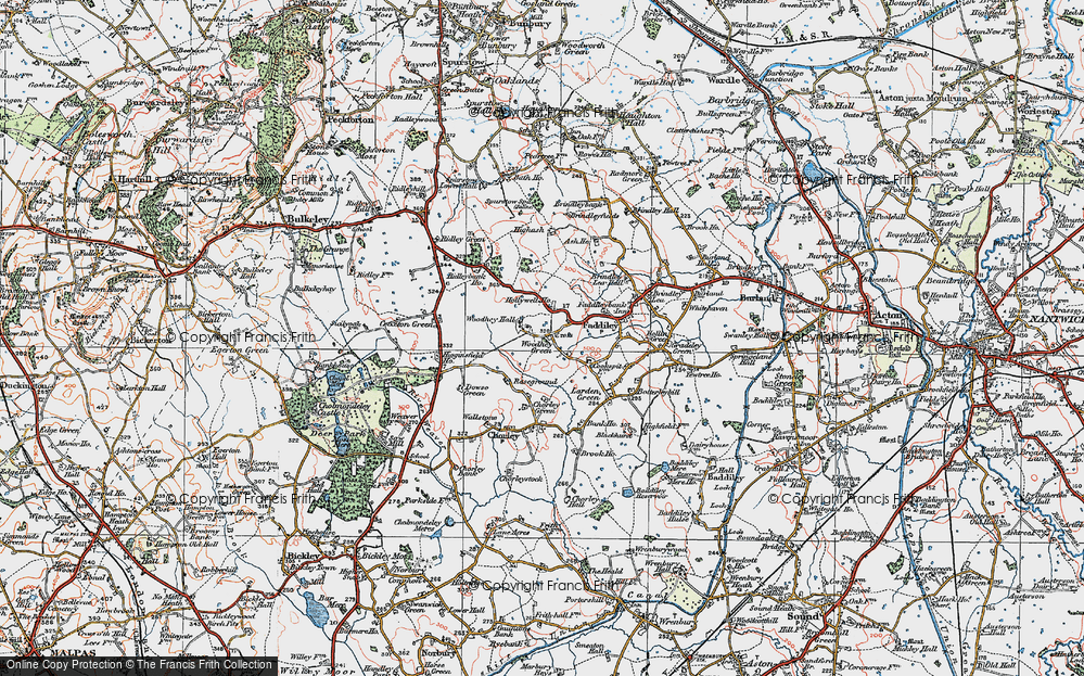 Old Map of Woodhey Green, 1921 in 1921