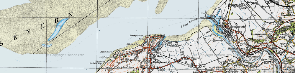 Old map of Woodhill Bay in 1919