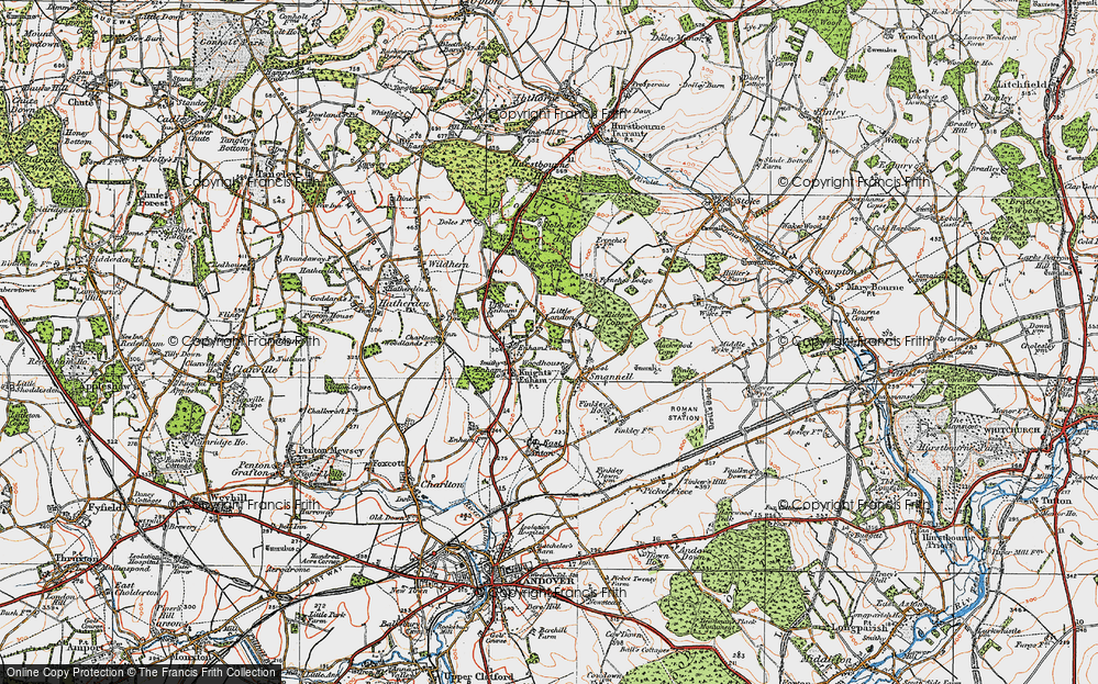 Old Map of Woodhouse, 1919 in 1919