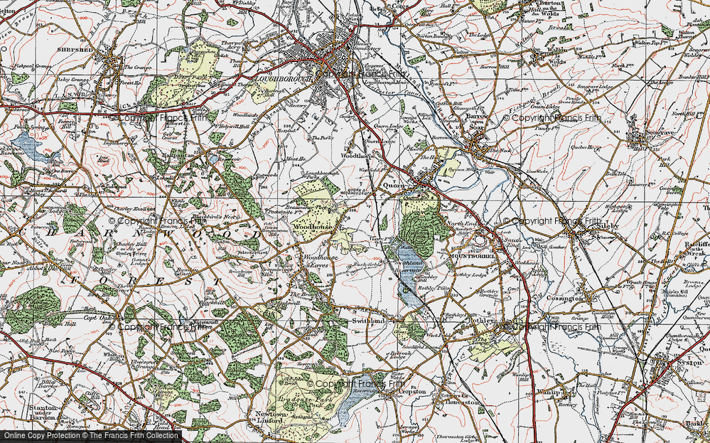 Old Map of Woodhouse, 1921 in 1921