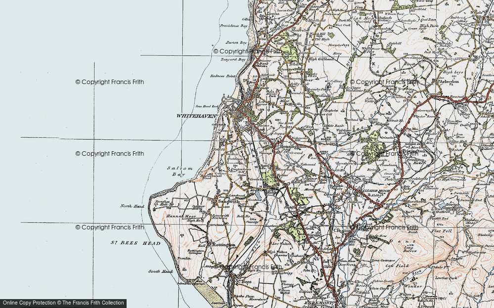Old Map of Woodhouse, 1925 in 1925