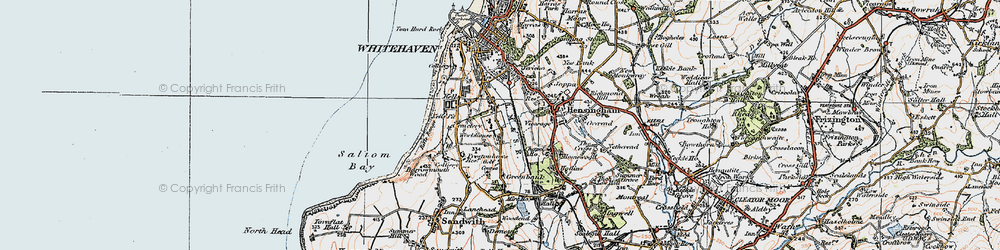 Old map of Woodhouse in 1925