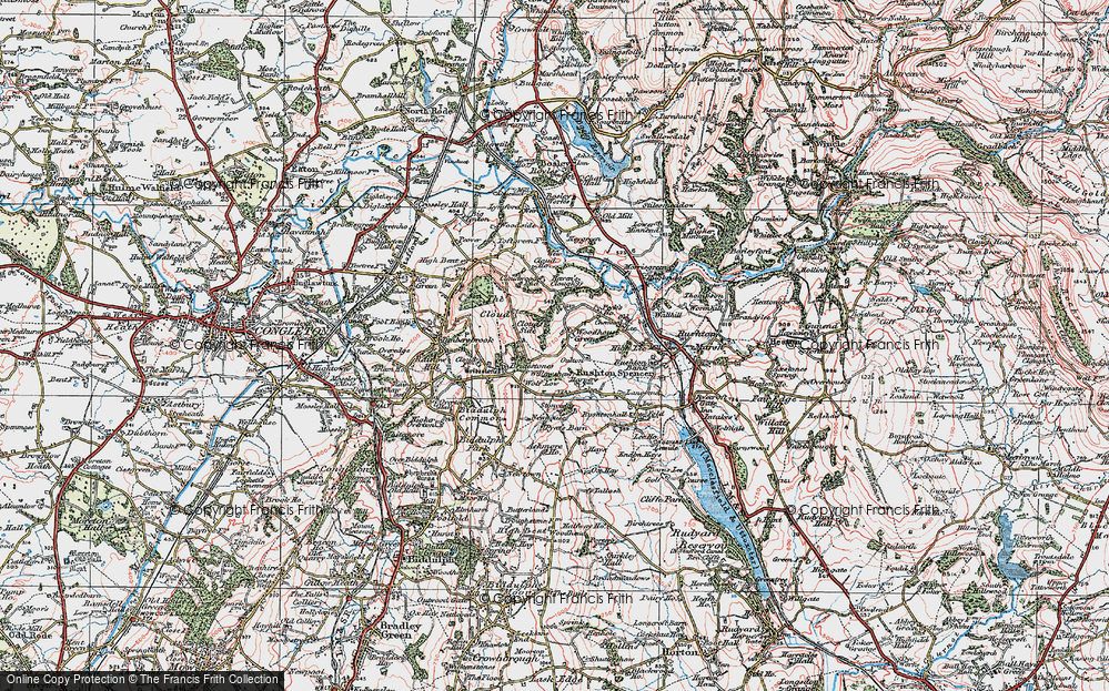 Old Map of Woodhouse Green, 1923 in 1923