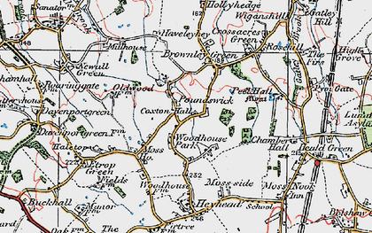 Old map of Woodhouse Park in 1923