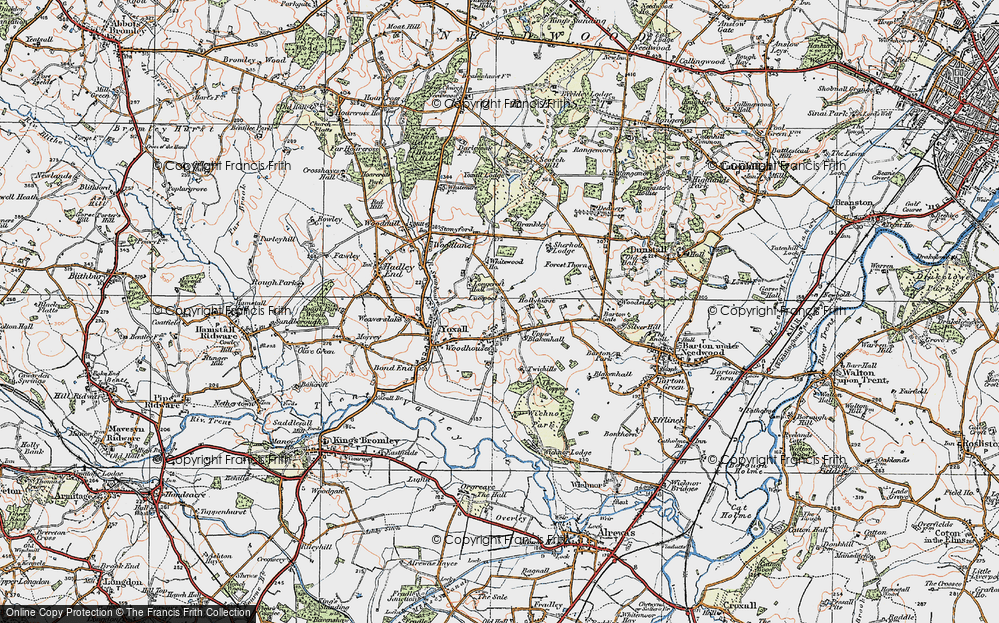 Old Map of Woodhouses, 1921 in 1921