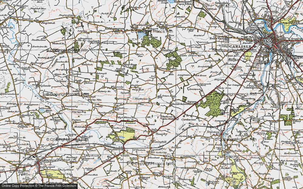 Old Map of Woodhouses, 1925 in 1925