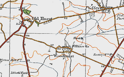 Old map of Woodhurst in 1920