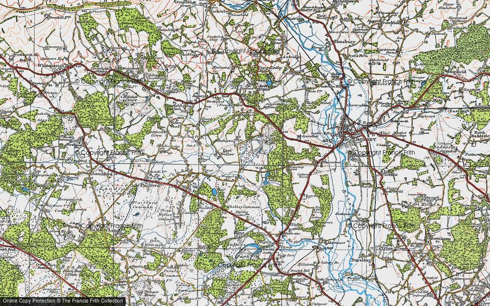 Old Map of Woodington, 1919 in 1919
