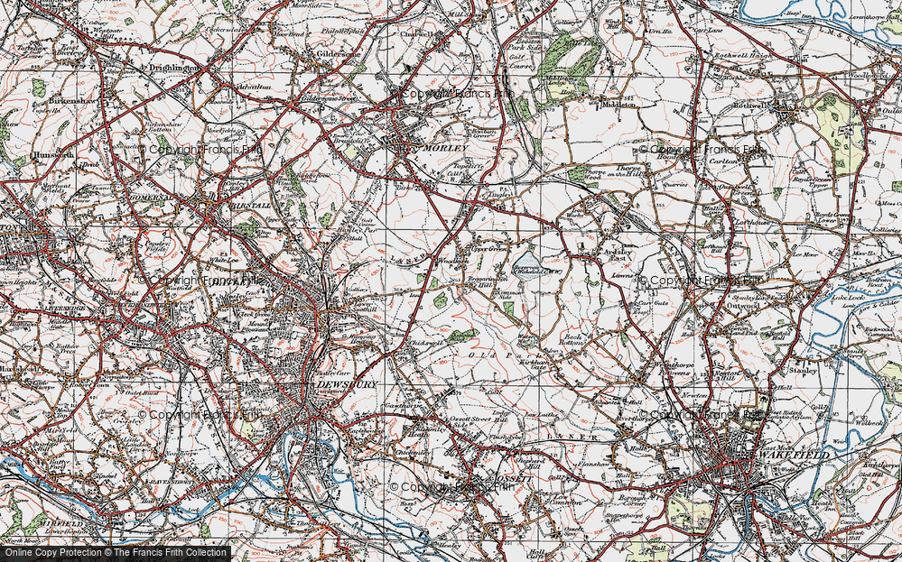 Old Map of Woodkirk, 1925 in 1925