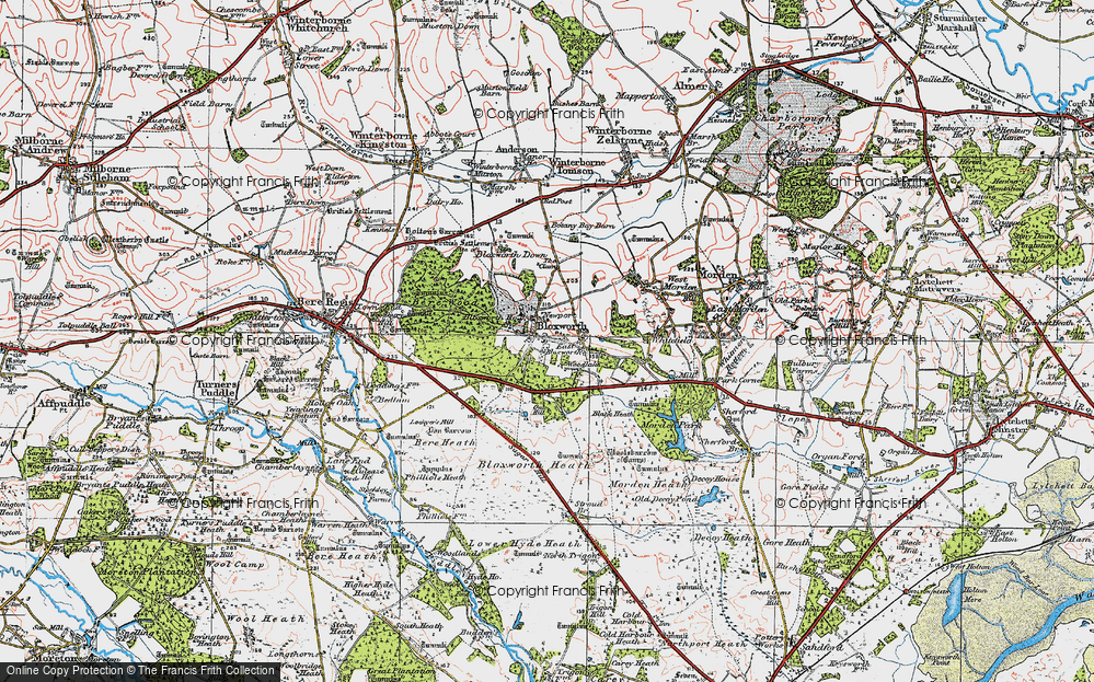 Old Map of Woodlake, 1919 in 1919