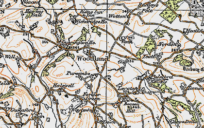 Old map of Wickeridge in 1919