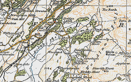 Old map of White Borran in 1925